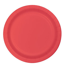 "Creative Converting Coral - Plates, 10"" Round Paper"