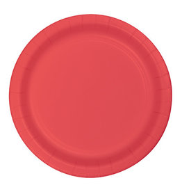 "Creative Converting Coral - Plates, 9"" Round Paper"