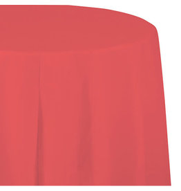 "Creative Converting Coral - Tablecover, Plastic 82"" Round"