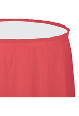 Creative Converting Coral - Tableskirt Plastic 14'