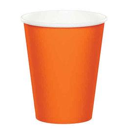 Creative Converting Sunkissed Orange - Cups, 9oz Paper 24ct