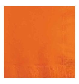 Creative Converting Sunkissed Orange - Napkins, Beverage 50ct