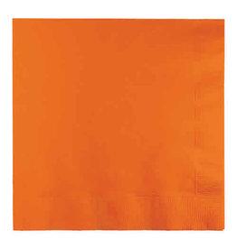 Creative Converting Sunkissed Orange - Napkins, Luncheon 50ct