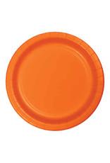 "Creative Converting Sunkissed Orange - Plates, 10"" Round Paper"