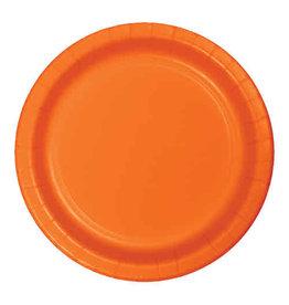"Creative Converting Sunkissed Orange - Plates, 7"" Round Paper 24ct"