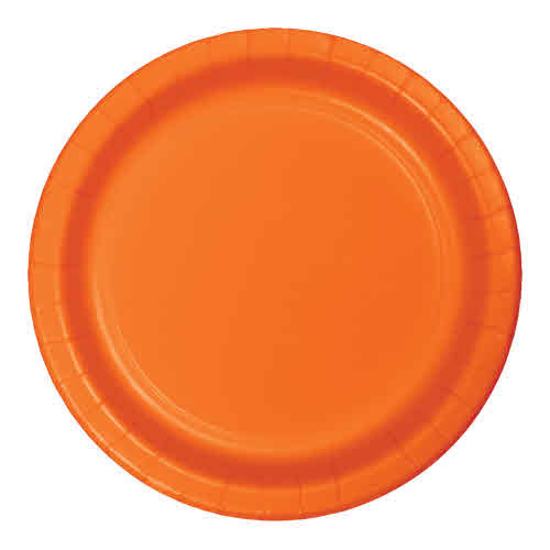 "Creative Converting Sunkissed Orange - Plates, 9"" Round Paper 24ct"