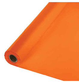 Creative Converting Sunkissed Orange - Table Roll, 100' Plastic