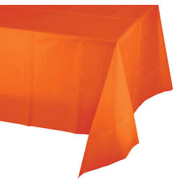 Creative Converting Sunkissed Orange - Tablecover, 54x108 Plastic