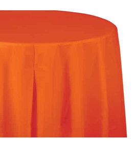 "Creative Converting Sunkissed Orange - Tablecover, 82"" Rnd Plastic"