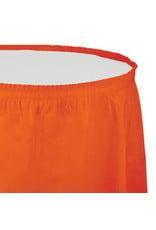 Creative Converting Sunkissed Orange - Tableskirt, 14' Plastic