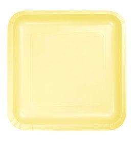 "Creative Converting Mimosa - Plates, 7"" Square Paper 18ct"