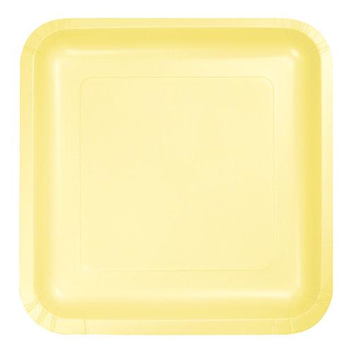 "Creative Converting Mimosa - Plates, 9"" Square Paper 18ct"