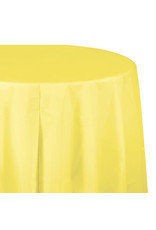 """Creative Converting Mimosa - Tablecover, 82"""" Rnd Plastic"""