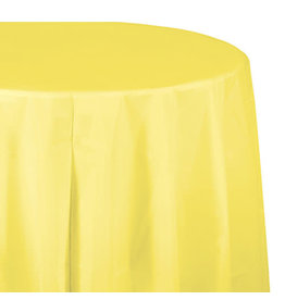 "Creative Converting Mimosa - Tablecover, 82"" Rnd Plastic"
