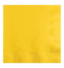 Creative Converting School Bus Yellow - Napkins, Beverage 50ct