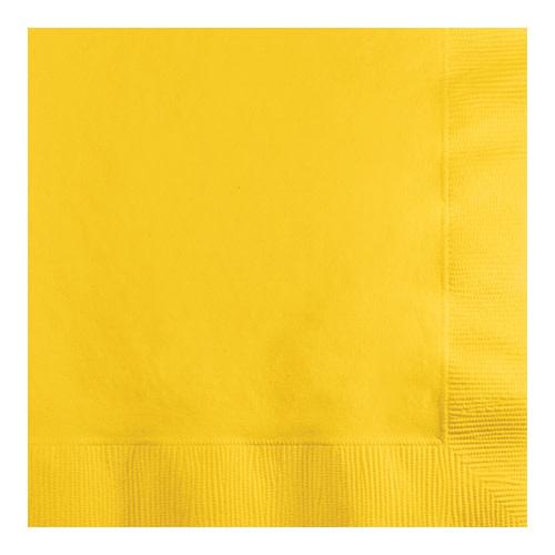 Creative Converting School Bus Yellow - Napkins, Beverage 50ct