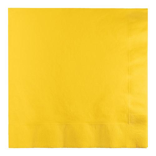 Creative Converting School Bus Yellow - Napkins, Luncheon 50ct