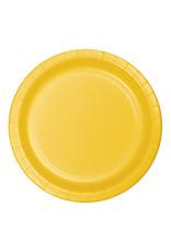 "Creative Converting School Bus Yellow - Plates, 9"" Round Paper 24ct"