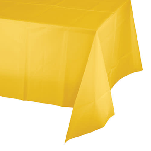 Creative Converting School Bus Yellow - Tablecover, 54x108