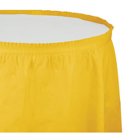 Creative Converting School Bus Yellow - Tableskirt, 14' Plastic