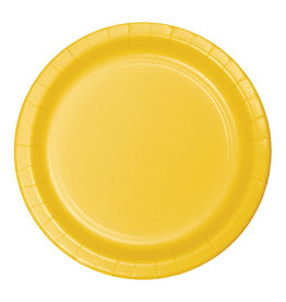 "Creative Converting School Bus Yellow - Plates, 7"" Round Paper 24ct"
