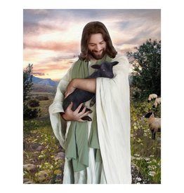 Brent Borup Card - Christ with Lamb, 3x4