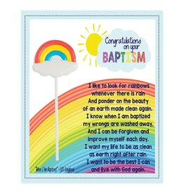 Popcorn Tree Card & Sucker - Congratulations on Your Baptism