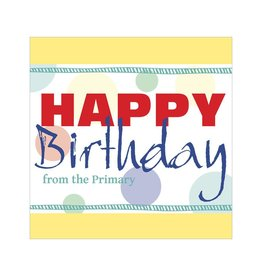 Popcorn Tree Primary Birthday Cards - Yellow, 6ct