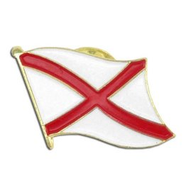 Popcorn Tree Lapel Pin - Alabama Flag