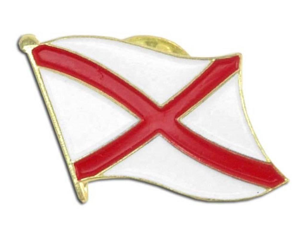 Popcorn Tree Lapel Pin - Alabama Flag