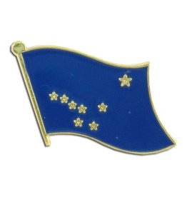 Popcorn Tree Lapel Pin - Alaska Flag