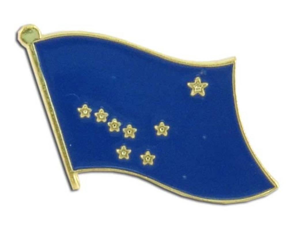 Popcorn Tree Lapel Pin - Alaska Flag