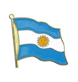 Popcorn Tree Lapel Pin - Argentina Flag