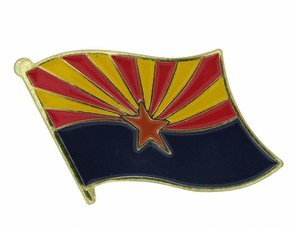 Popcorn Tree Lapel Pin - Arizona Flag