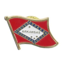 Popcorn Tree Lapel Pin - Arkansas Flag