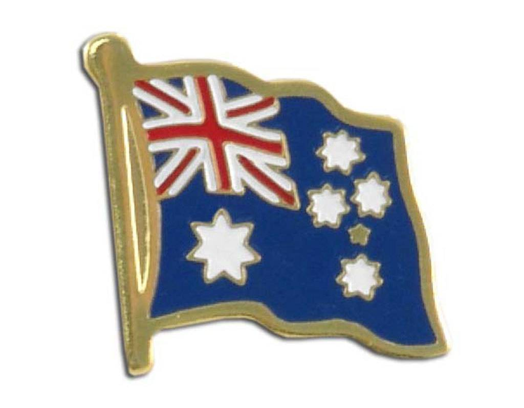 Popcorn Tree Lapel Pin - Australia Flag