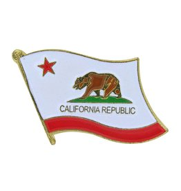 Popcorn Tree Lapel Pin - California State Flag