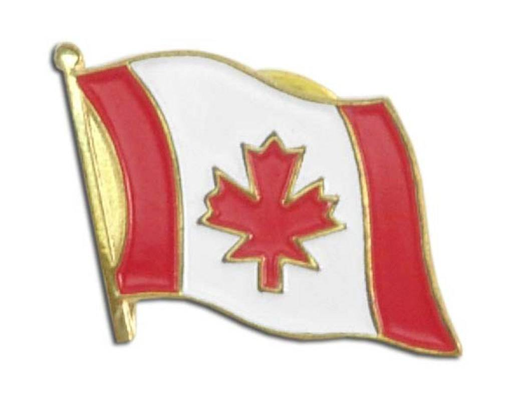 Popcorn Tree Lapel Pin - Canada Flag