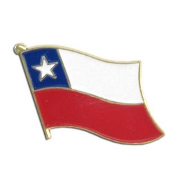 Popcorn Tree Lapel Pin - Chile Flag