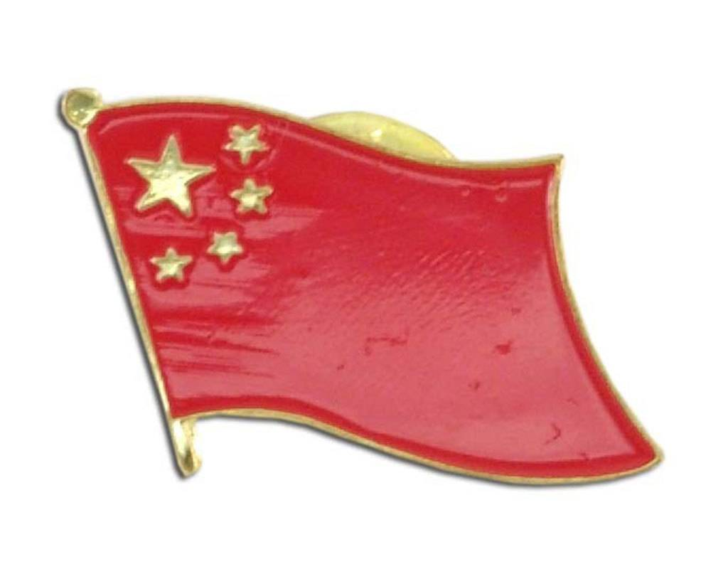 Popcorn Tree Lapel Pin - China Flag