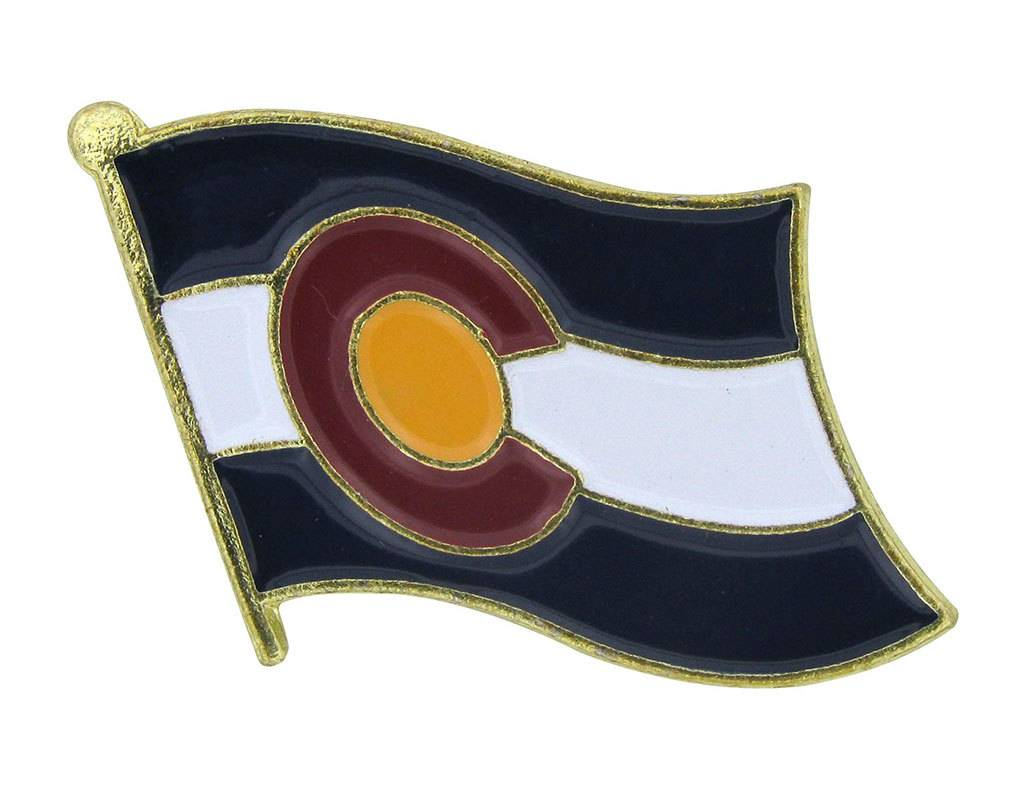 Popcorn Tree Lapel Pin - Colorado Flag