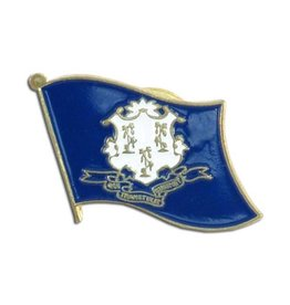 Popcorn Tree Lapel Pin - Connecticut Flag