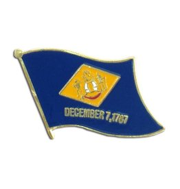 Popcorn Tree Lapel Pin - Delaware Flag