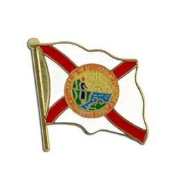 Popcorn Tree Lapel Pin - Florida Flag