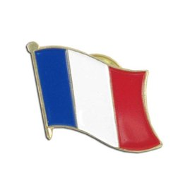 Popcorn Tree Lapel Pin - France Flag