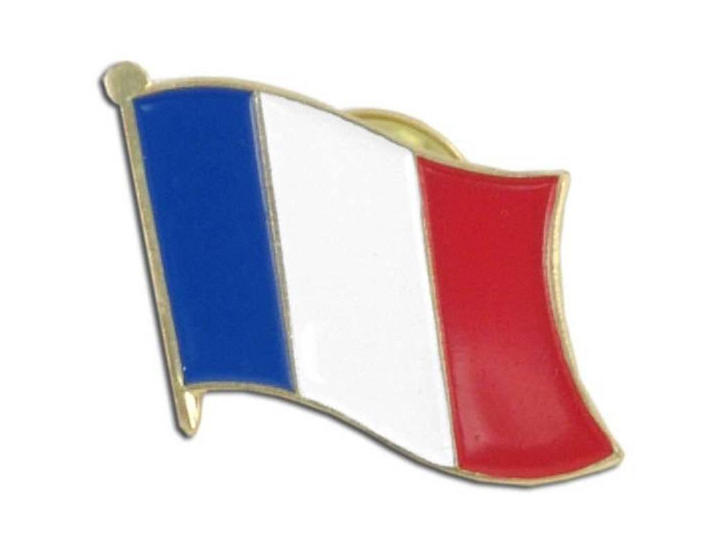 Popcorn Tree Lapel Pin - France Flag
