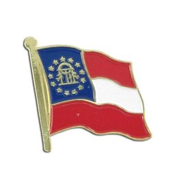 Popcorn Tree Lapel Pin - Georgia Flag