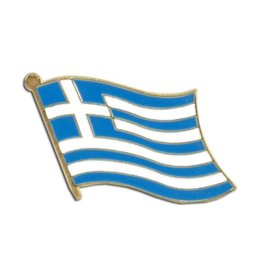 Popcorn Tree Lapel Pin - Greece Flag