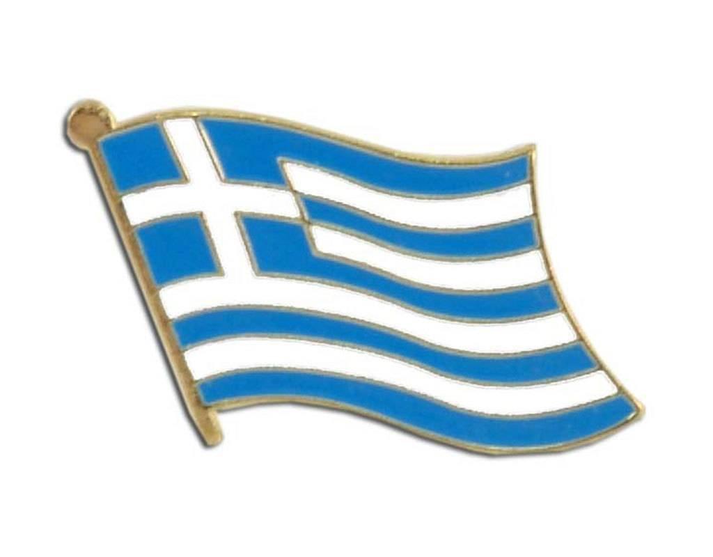 Popcorn Tree Lapel Pin - Greece Flag