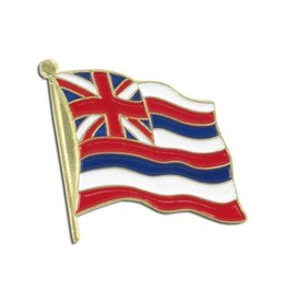 Popcorn Tree Lapel Pin - Hawaii State Flag